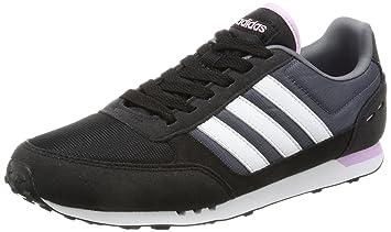 info for e1f5b 8b463 adidas Damen City Racer W Sneakers Schwarz (Cblackftwwhtlgtorc) 36 2