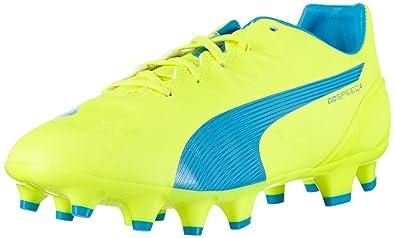 Puma Evospeed 4.4 FG Jr, Unisex-Kinder Fußballschuhe, Gelb (Safety Yellow-
