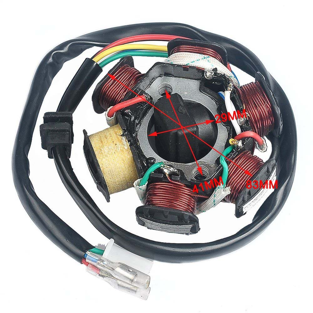 Annpee Complete Electrics Wiring Harness Wire Loom Dirt Bike For 4 Cdi Box Diagram Magneto Stator Gy6 Stroke Engine Type 125cc 150cc Pit Scooter Atv Quad Automotive