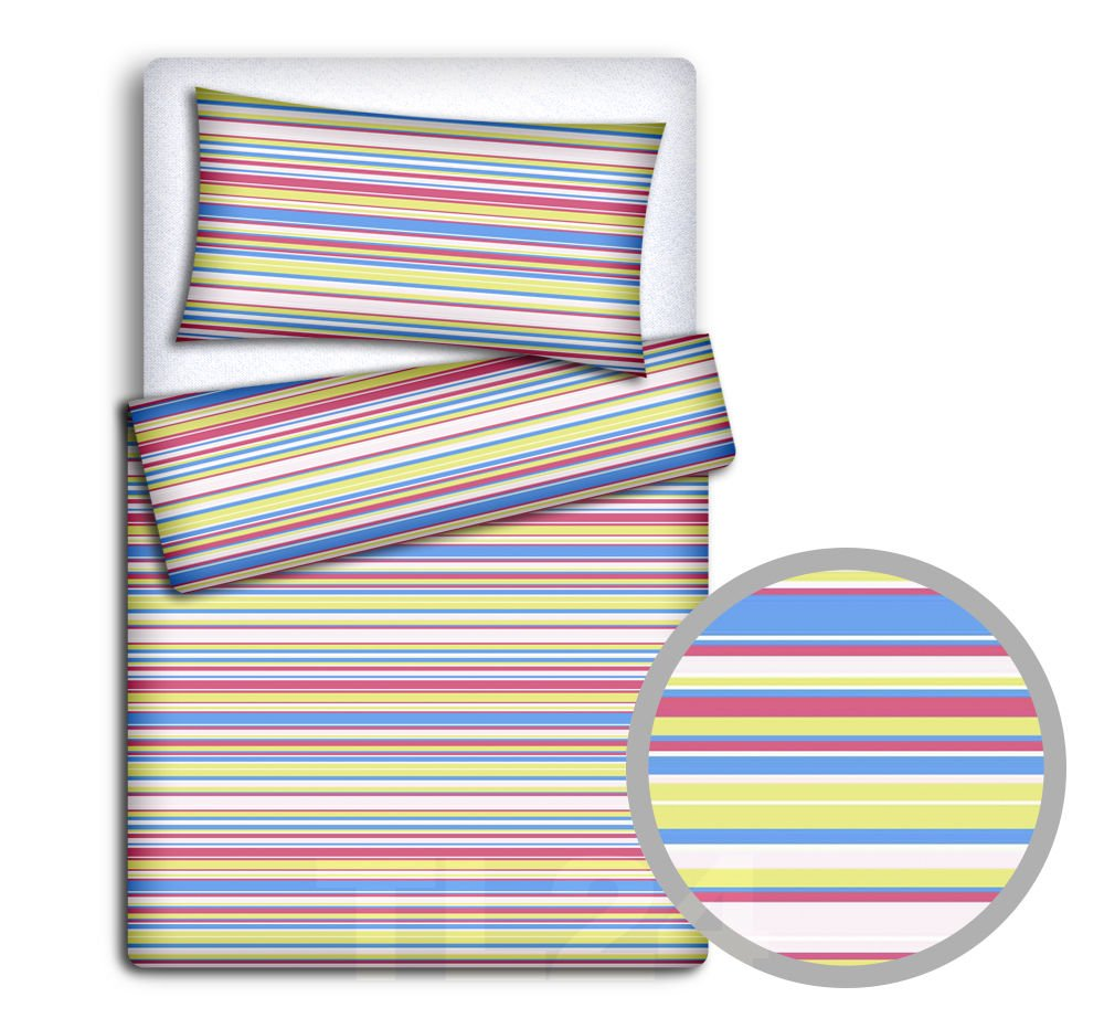 BABY BEDDING SET PILLOWCASE + DUVET COVER 2PC TO FIT JUNIOR BED (Colorful dots) Babymam