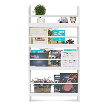 wholesale dealer 6432c a002b Homfa Children Wall Bookcase Kids Shelves Wooden Book Display Stand  Organizer White
