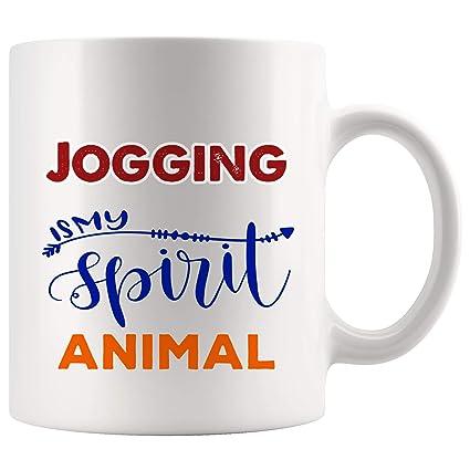 Amazon com: My Spirit Animal Jogging Mug Coffee Cup Tea Mugs