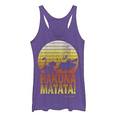 6855998fd184f6 Lion King Women s Hakuna Matata Profile Purple Heather Racerback Tank Top