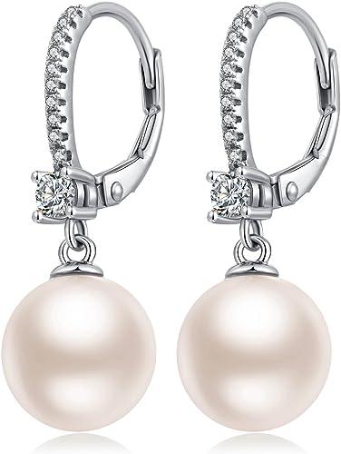 2 pendientes de perlas blanco madreperla pendientes aretes perlas perla regalo nuevo