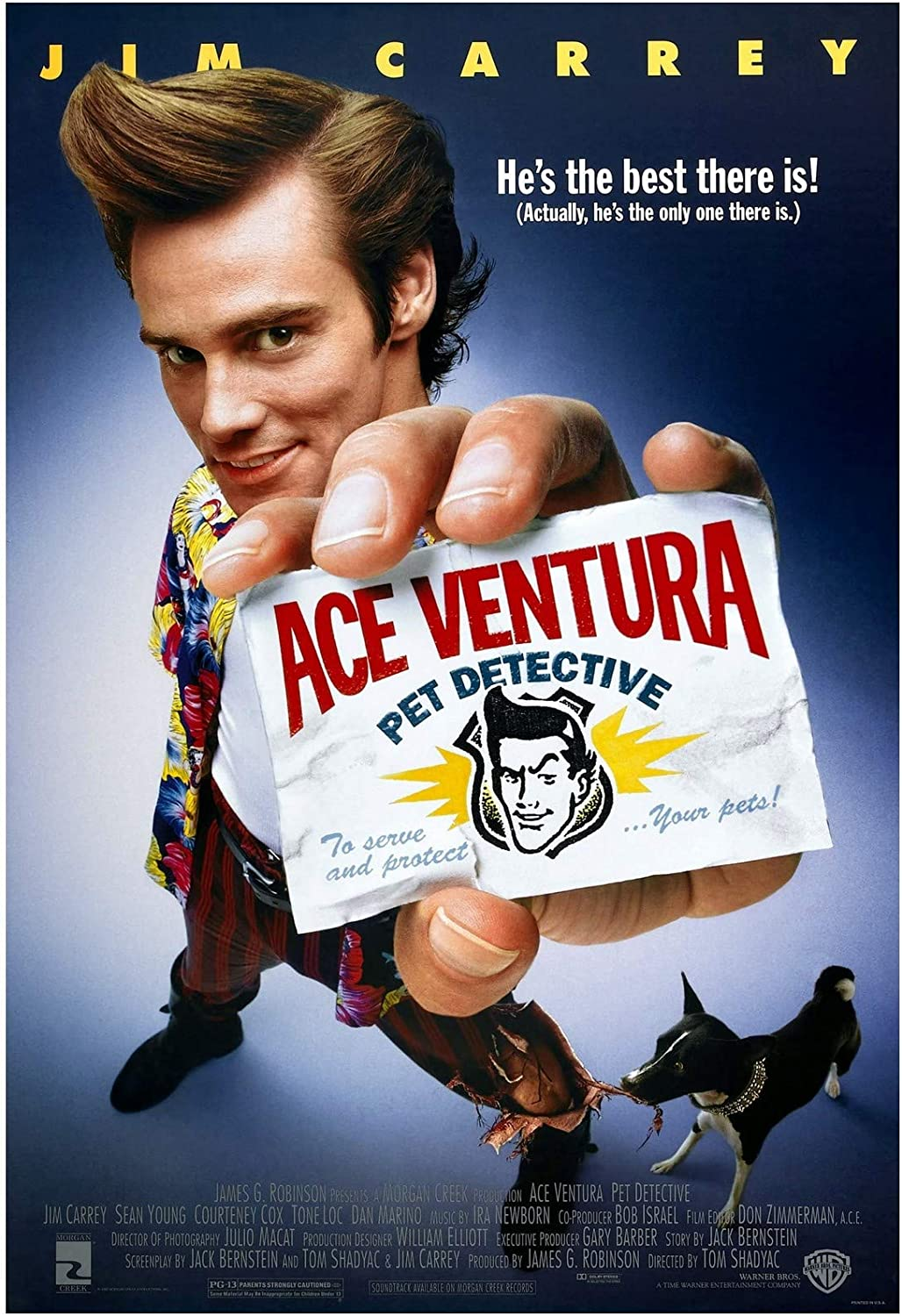 Ace Ventura Pet Detective Movie Poster 24 x 36 Inches Full Sized Print Unframed Ready for Display