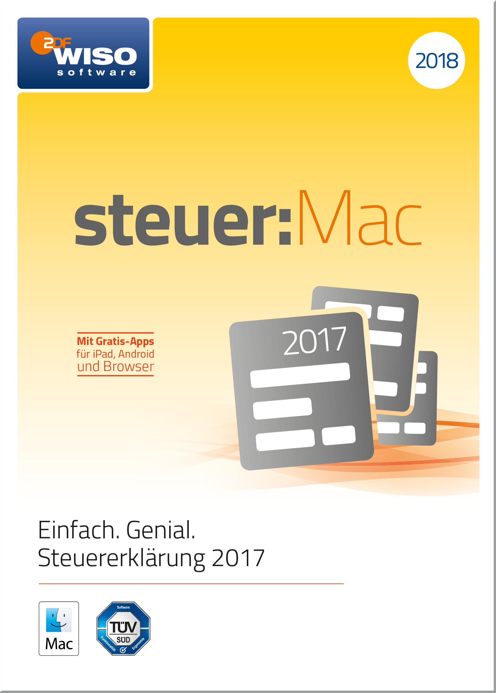 WISO steuer:Mac 2018 (für Steuerjahr 2017) [Online Code]: Amazon.de ...