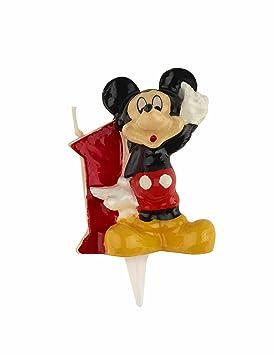 DEKORA Vela 1 cumpleaños Mickey Disney
