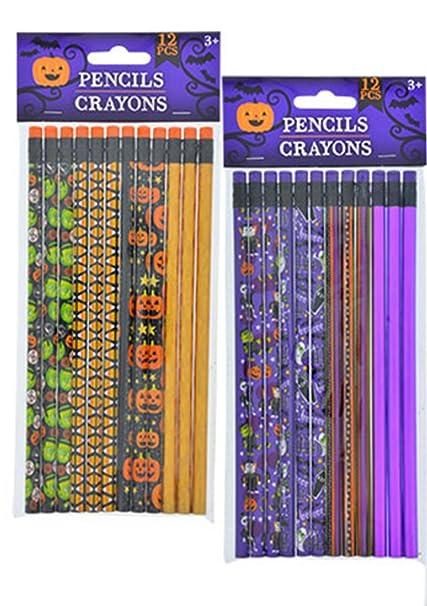 Amazon.com: Halloween – Lápices (24 Count) y bolsas de ...