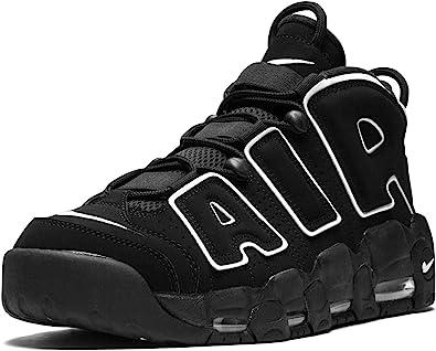 fusión gritar famélico  Amazon.com | Nike Mens Air More Uptempo Black/White-Black Leather |  Basketball