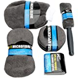 iTimo Microfiber Car Wash Cleaning Kits Include Microfiber Towels Applicator Pads Wash Sponge Wash Glove Wheel Brush