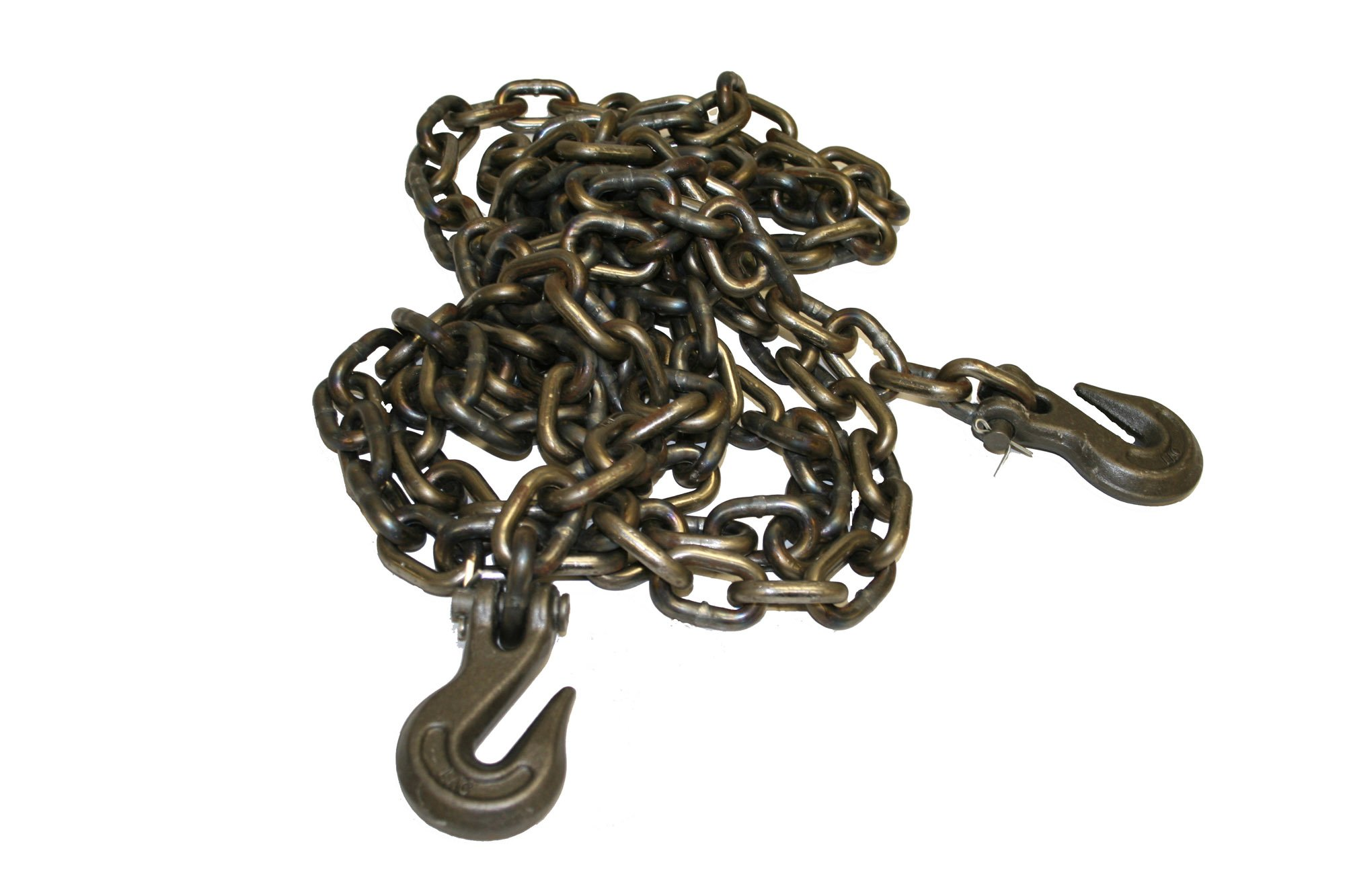 Laclede Chain 1424-866-00 3/8'' Grade 43 High Test Chain by 20' Clevis Grab Hook