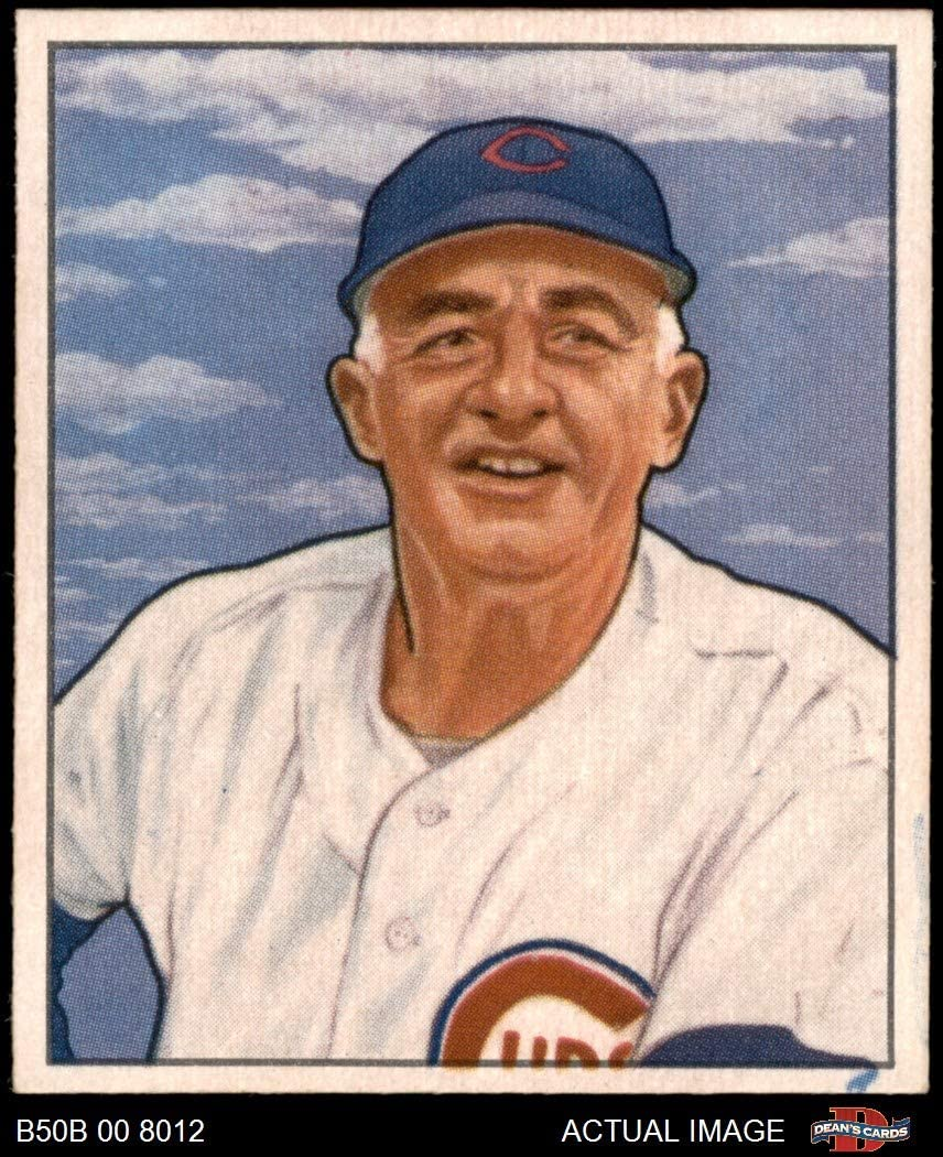 1950 Bowman # 229 Cr Frankie Frisch Chicago Cubs (Baseball Card) (mit Copyright auf Back) Dean'S Cards 6.5 - Ex/Mt+ Cubs