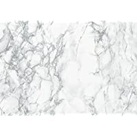 "d-c-fix 346-0306 Decorative Self-Adhesive Film, Grey Marble, 17"" x 78"" Roll"