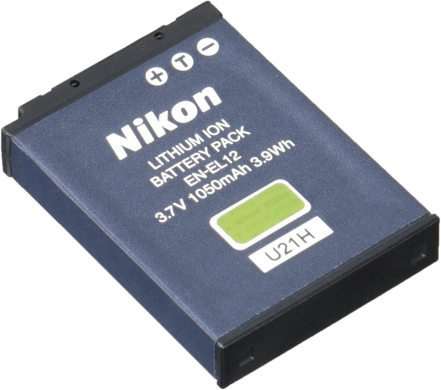 Nikon 25780 EN-EL12 Rechargeable Li-ion Battery for Select Coolpix Models : Digital Camera Batteries : Camera & Photo