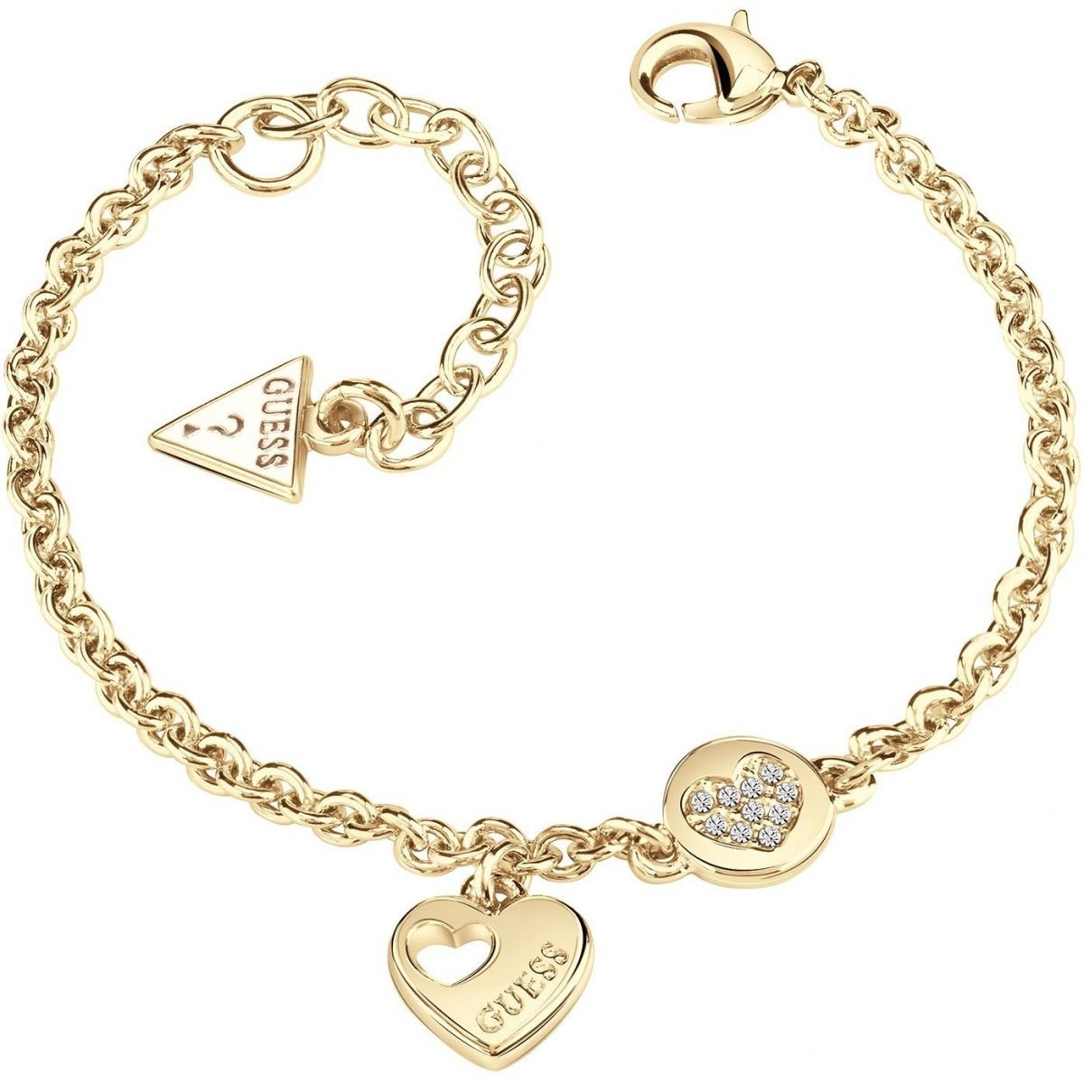Guess Jewellery Heart Devotion Bracelet Damen vergoldet