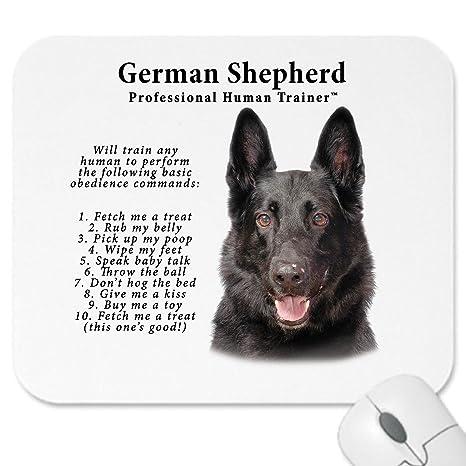 """Pastor alemán """"Human Trainer de color negro perro de Mouse Pad Mousepad"""