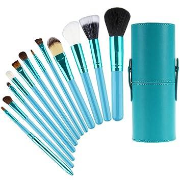 9d0b03dc5402 Amazon.com  Professional 12pcs Super Soft Makeup Brushes Kit NO SHEDDING  Smooth Foundation Blush Eyeliner Face Powder Eyeshadow Blending Brushes  Cosmetics ...