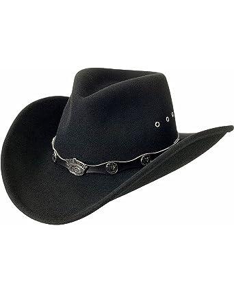 Image Unavailable. Image not available for. Color  Jack Daniels Men s  Daniel s Logo Conchos Crushable Wool Felt Cowboy Hat ... 8cf6729865e5