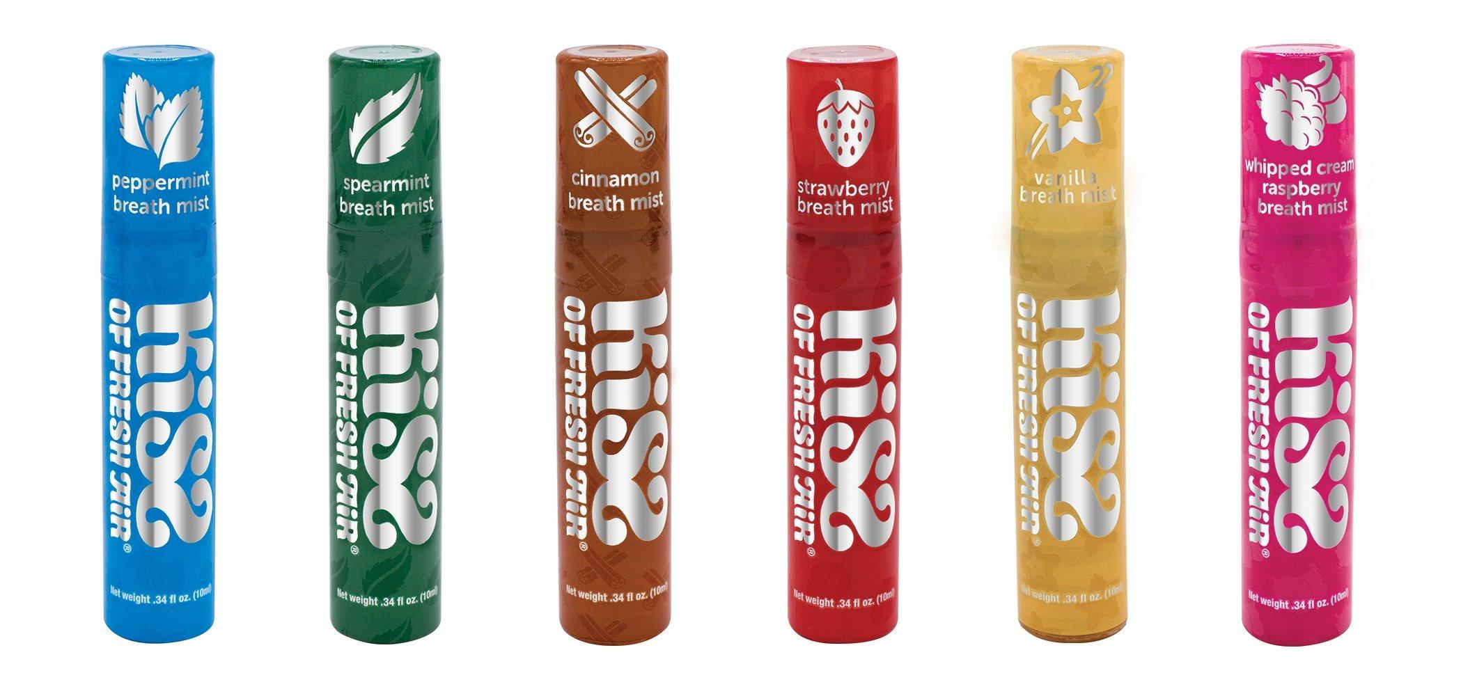 Kiss of Fresh Air Variety of 6''Kiss Pack'' Breath Spray