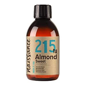Naissance Sweet Almond Oil 8 fl oz - Pure & Natural, Vegan, Non GMO, Hexane Free, Cruelty Free - Ideal for Haircare and Skincare, Aromatherapy & Massage