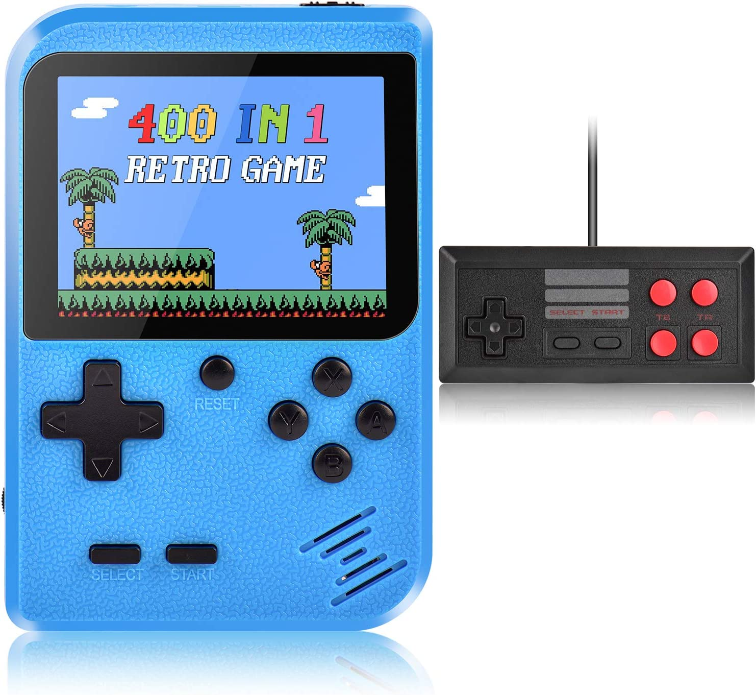Handheld Game Console, Kiztoys Retro Video Games Console for kids with 400 Classic Games, Supporting 2 Players and TV Connection,...