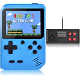 Handheld Game Console, Kiztoys Retro Video Games Console for kids with 400 Classic Games, Supporting 2 Players and TV…