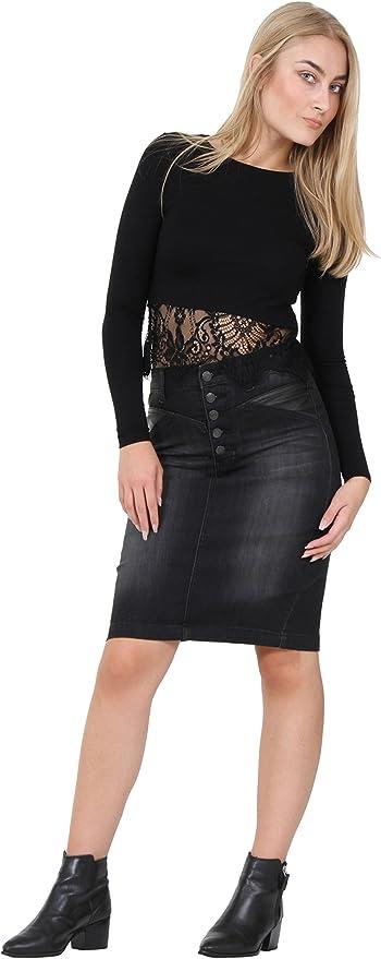 Womens Bonnie Denim Midi Skirt