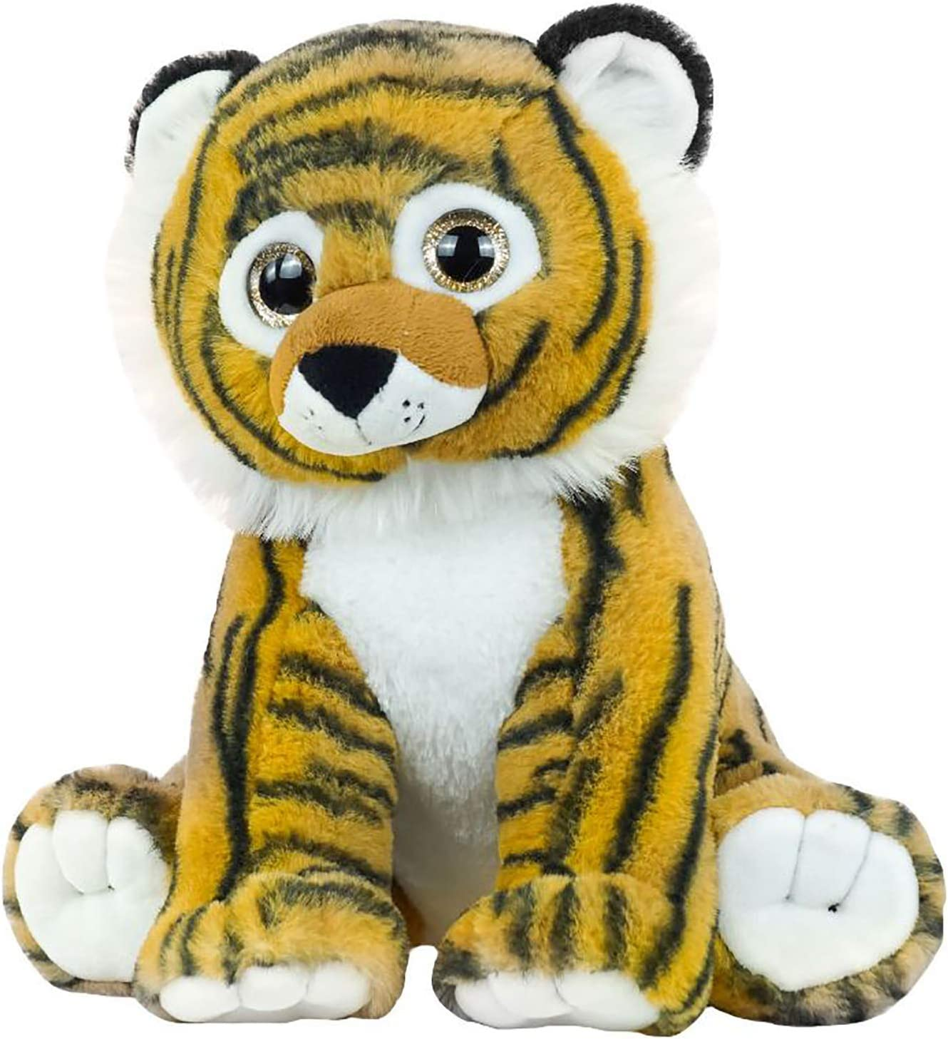 Realistic Plush Animal Tiger Yellow White Tiger Hairy Soft Stuffed Toys Pillow