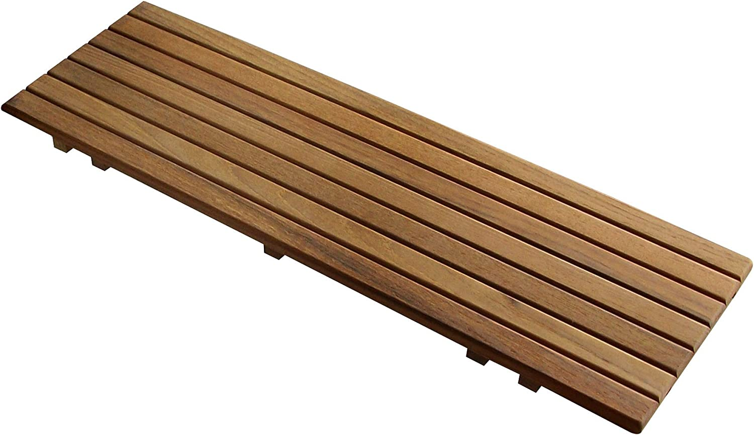 "Adjustable Teak Bathtub Shelf Seat | for tubs from 20-1/4"" to 28-1/2"" Wide 