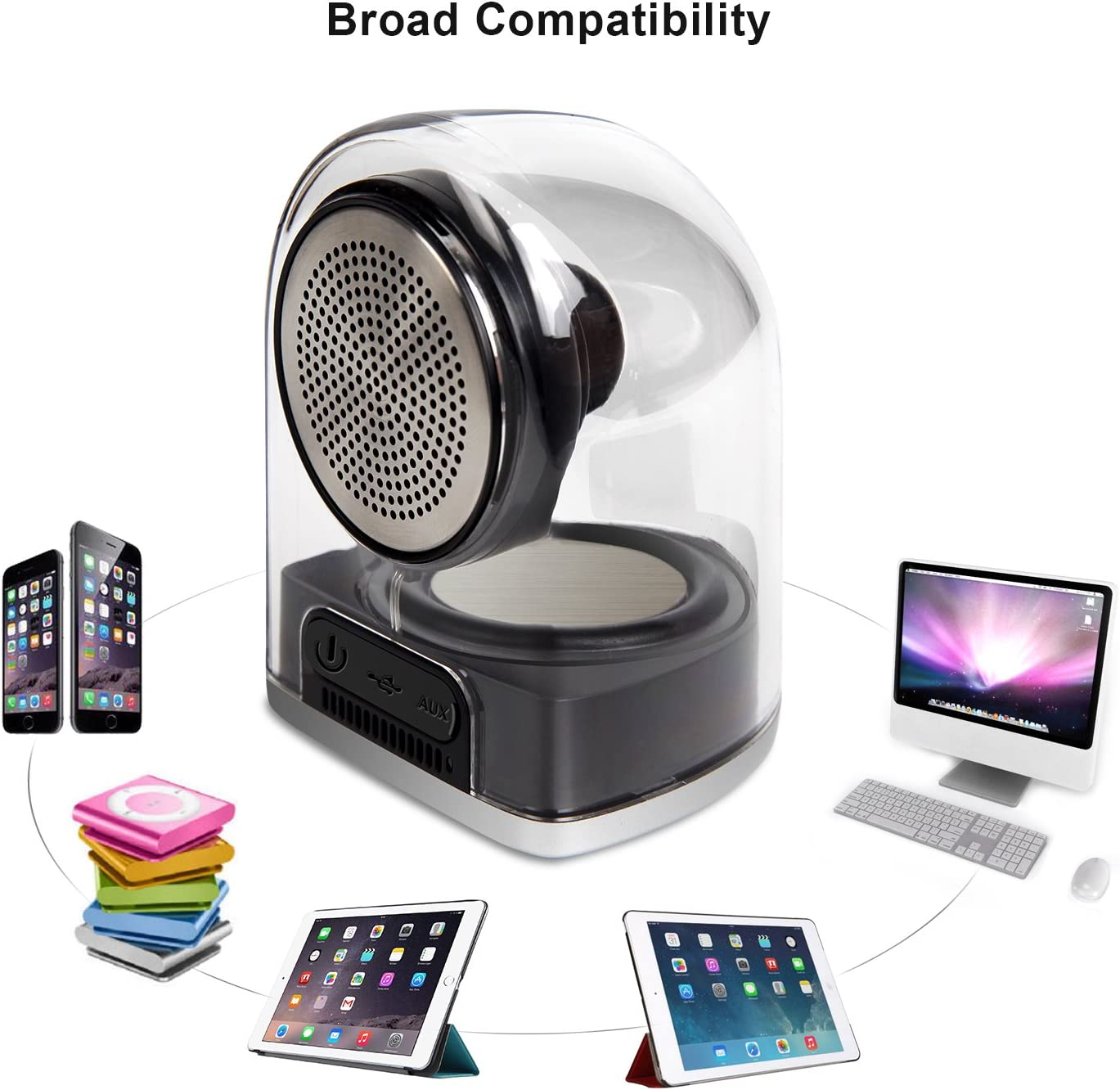 Smart Phone iPad Wireless Speaker with Built-in Mic for iPhone LETTON D12 Bluetooth Speaker Laptops and More