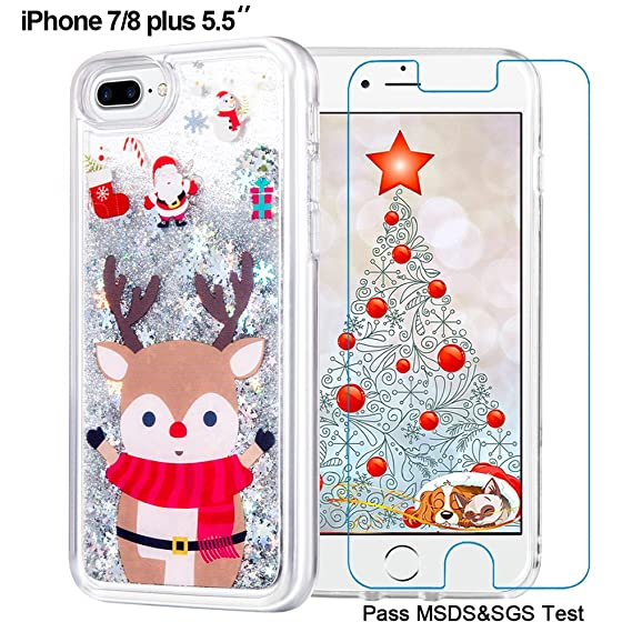maxdara iphone 8 plus christmas case iphone 7 plus case merry christmas giraffe pattern