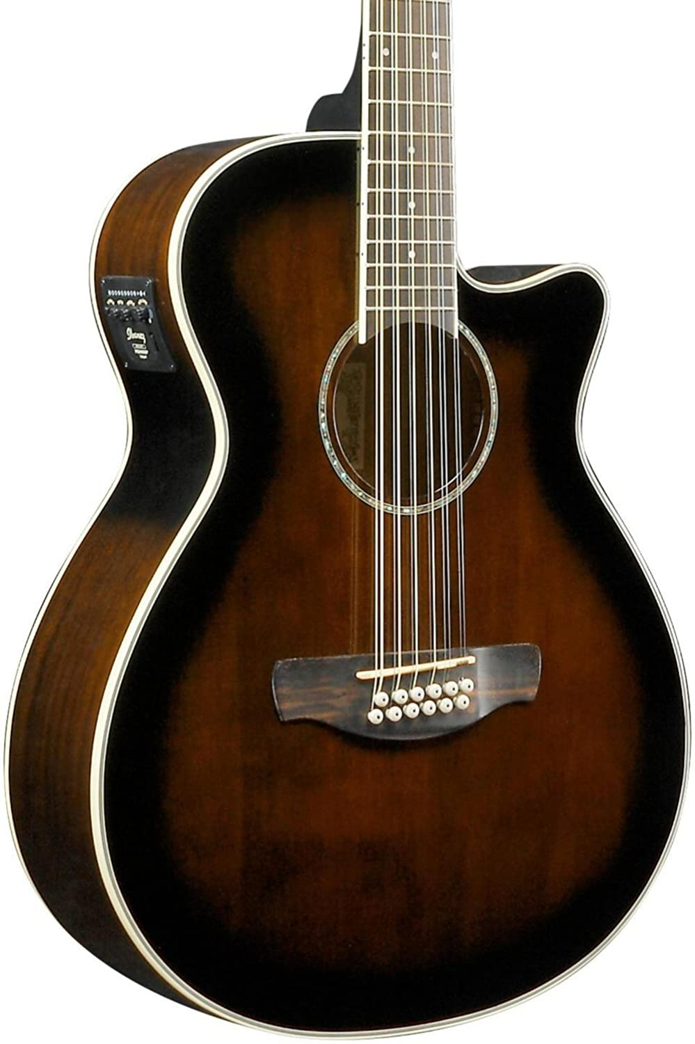 Ibanez AEG1812II AEG 12-String Acoustic-Electric Guitar Dark Violin Sunburst AEG1812IIDVS