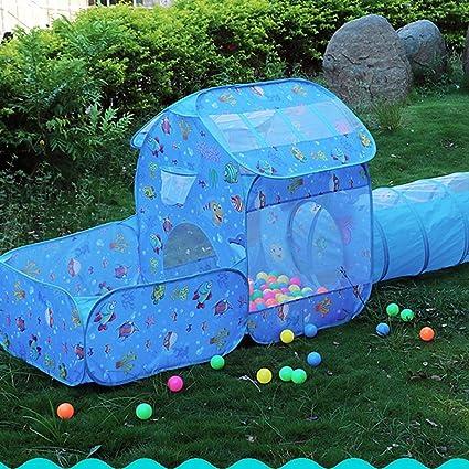 Tent túnel 3 en 1 Zona de Juegos Infantil para bebés Juguetes para niños Infantil Jardín Exterior Interior Juguetes Niños Niñas Tela Pop Up (Bolas No Incluido),withouttunnel: Amazon.es: Deportes y aire libre