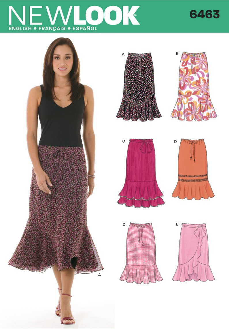 New Look Sewing Pattern 6463 Misses Skirts, Size A (8-10-12-14-16-18) by Simplicity Creative Group Inc - Patterns   B004RSTWEG