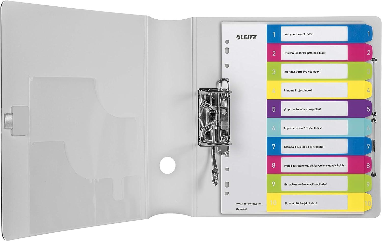 Formato Maxi Leitz Rubrica numerica 1-20 Formato A4 Maxi WOW Pagina indice stampabile al PC Polipropilene 12450000 Multicolore
