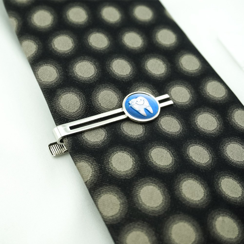 Made On Terra Happy Tooth Dentist Mens Tie Clip Tack Bar