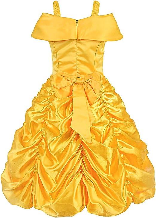 ALEAD Disfraz de Princesa Belle Vestido y Accesorios, Guantes ...