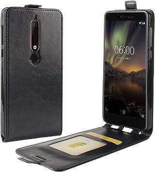 Oujiet-eu CN Funda para Nokia 6 2020 Funda Flip Cuero de la PU+ ...