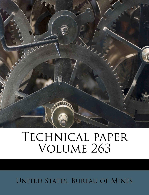 Technical paper Volume 263 PDF