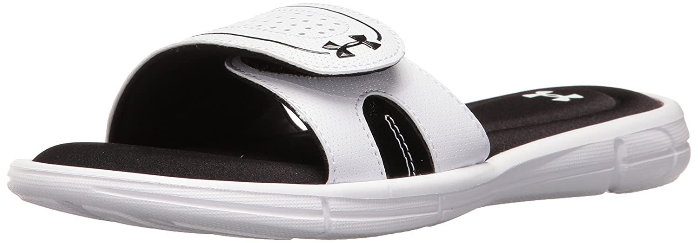 Under Armour Women's Ignite VII Slide Sandal B01GSYTQP6 7 M US|White (100)/Black