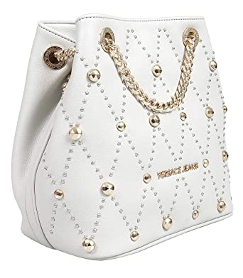 9ea94cdf87 Image Unavailable. Image not available for. Color: Versace EE1VTBBE2 E807  Light Grey Shoulder Bag for Womens