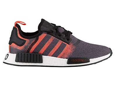 7f9e0567d8918 adidas Men s Originals NMD R1 Black Solar Red Black Mesh Running Shoes 8 M