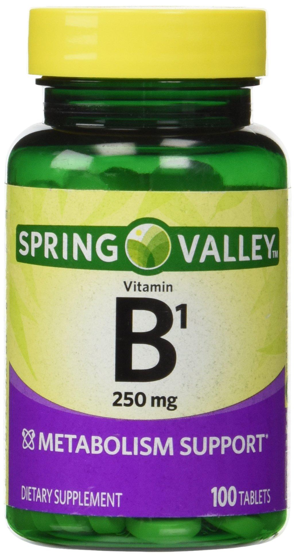 Spring Valley Natural Metabolism Support B1, 100 tablets