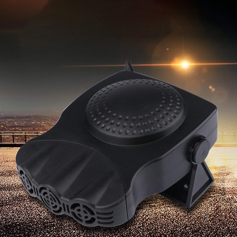 Portable Car Heater Car Glass Defroster Car Heater 12v Electric Heater with Heater Heater Snow Defogger Black 150W