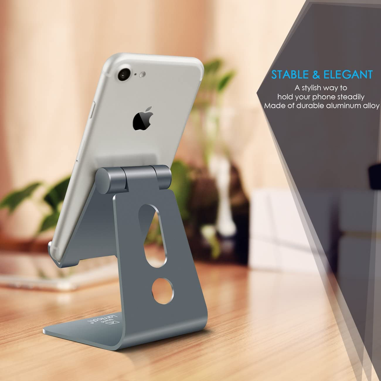 Android Smartphone Desk Accessories Rose Gold Lamicall Phone Stand Cradle Dock Holder Adjustable Cell Phone Stand Compatible with iPhone Xs XR 8 X 7 6 6S Plus SE 5 5S 5C Charging