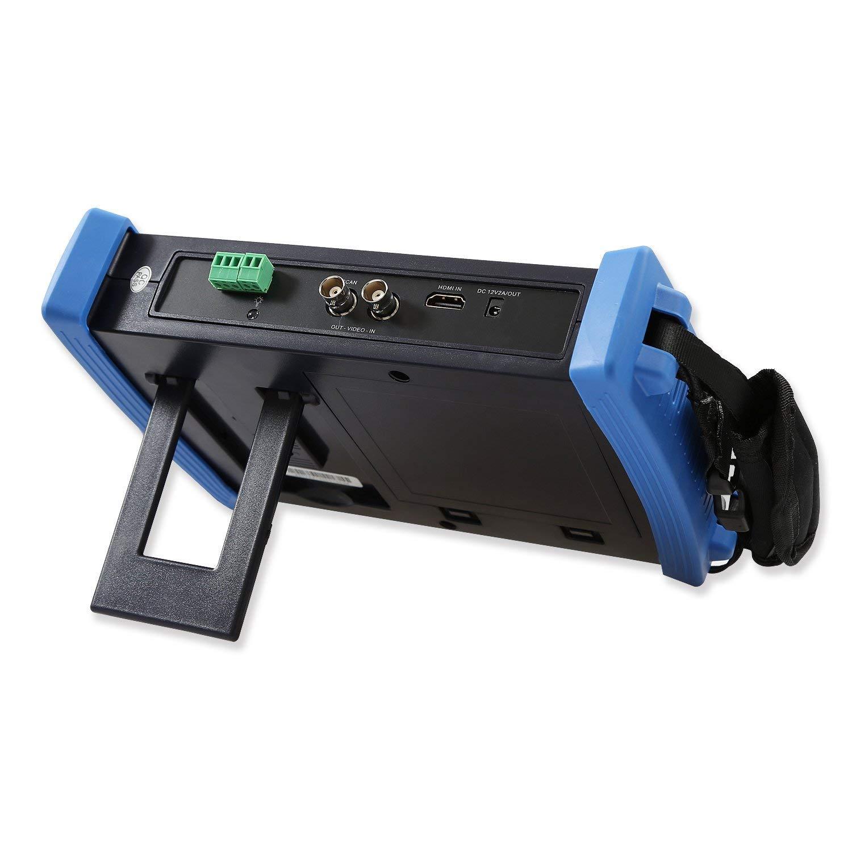Probador de CCTV de Yblntek Pantalla táctil de 7 pulgadas Retina Probador de cámara IP de 1080P HDMI Probador de monitor CVBS Probador analógico con Poe ...