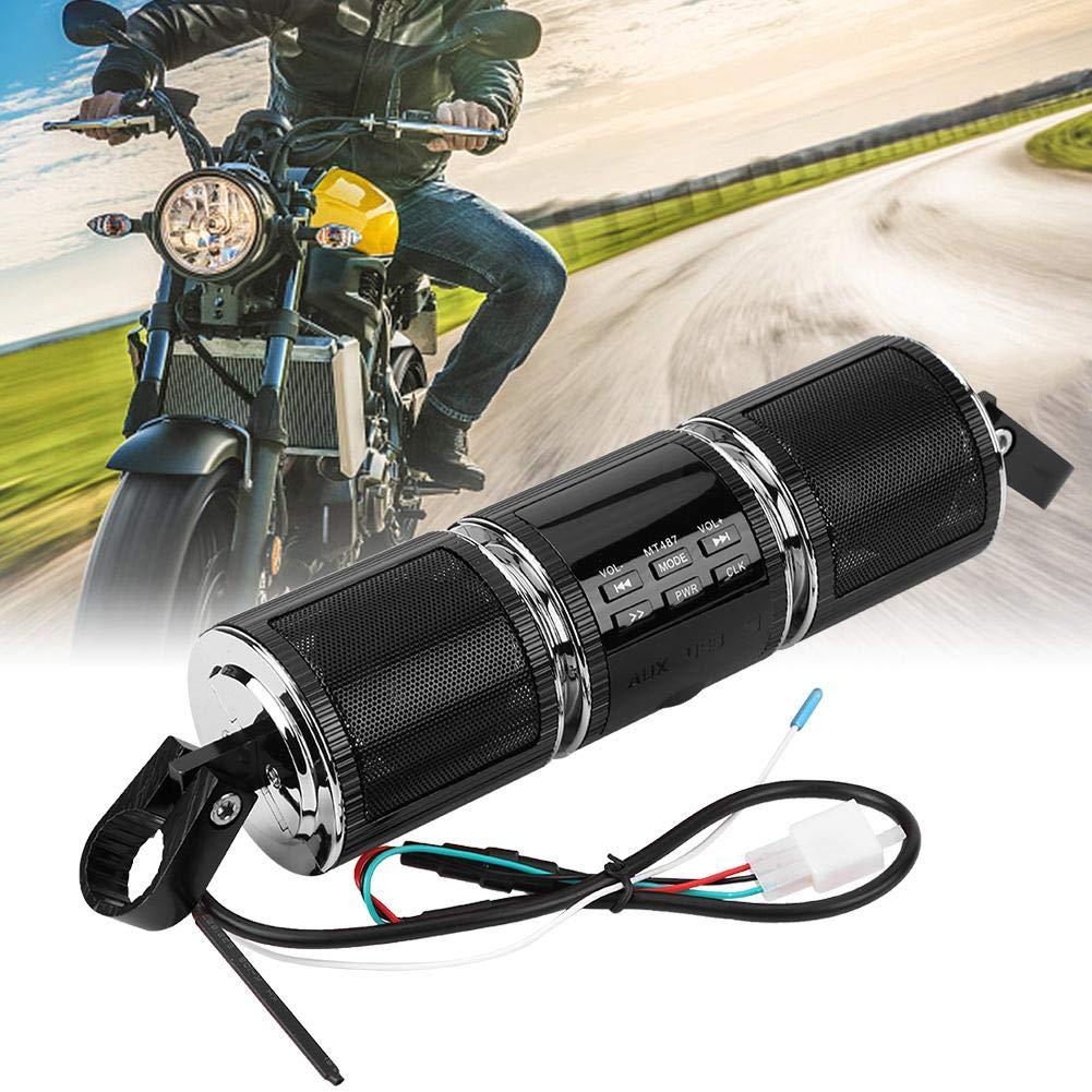 EBTOOLS Altoparlante stereo Bluetooth universale del manubrio del motociclo Altoparlante stereo MP3 USB//carta di TF IP4 impermeabile doro