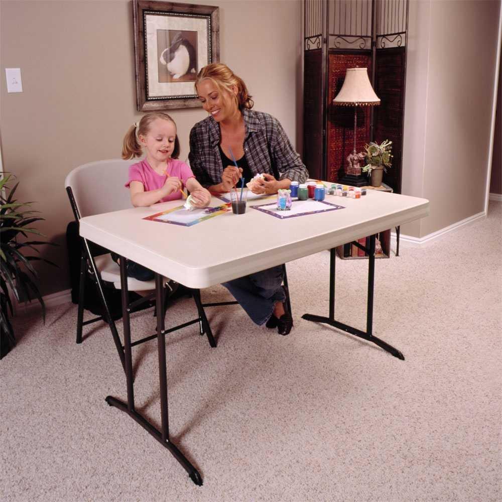 Amazon.com: Lifetime 22645 Commercial Folding Table, 4 Feet, Almond: Garden  U0026 Outdoor