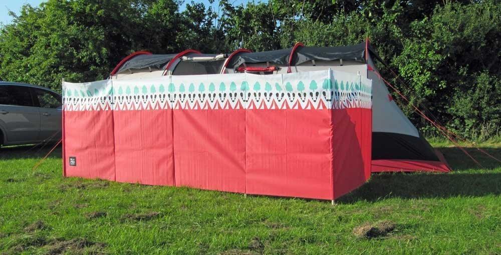 OLPro Windschutz Witley, 7 Stangen, Rot