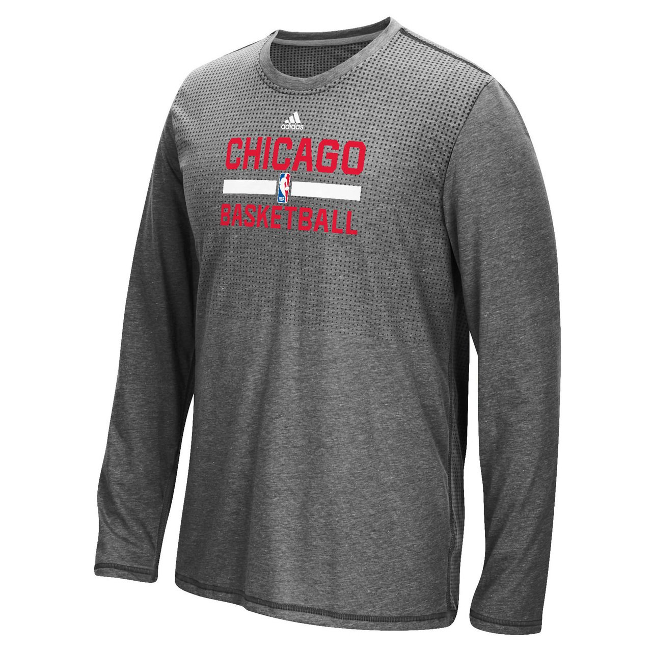 adidas Chicago Bulls Aeroknit Adult LS Shirt
